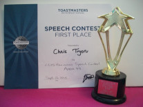 Toastmasters Speaker Award on Pink